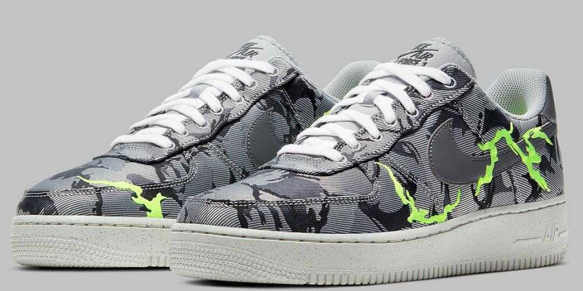 New Nike Air Force 1 '07 LX Come With Camo-Style Embroidery